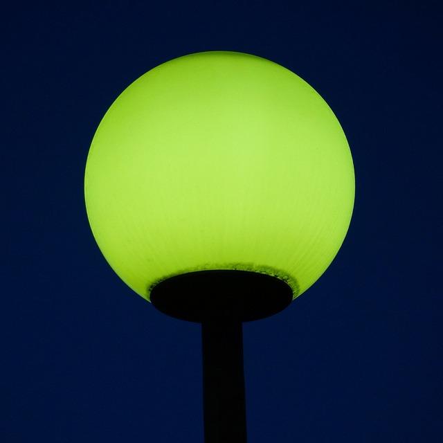 straatlamp in het donker