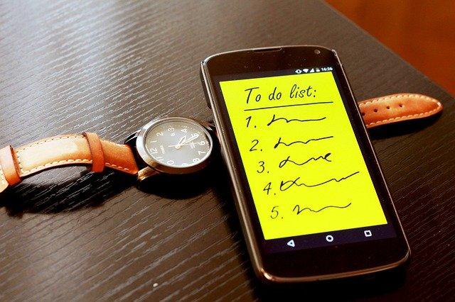 To do lijst op smartphone
